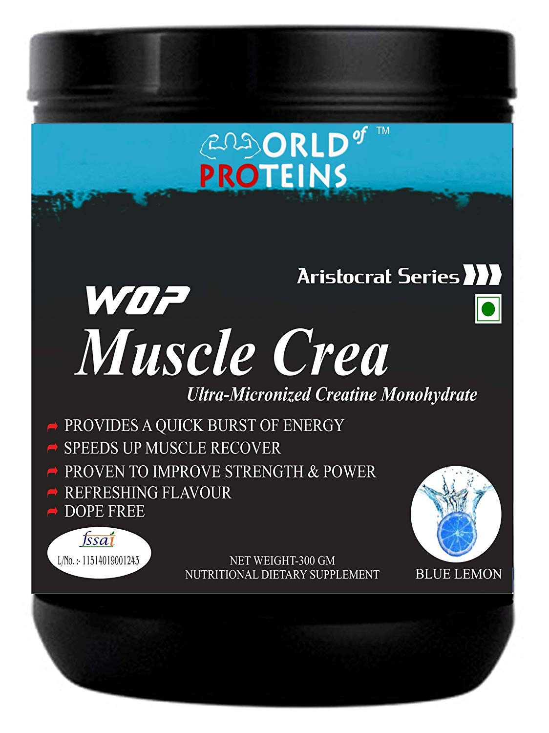 WOP Muscle Crea,300-g blue-lemon