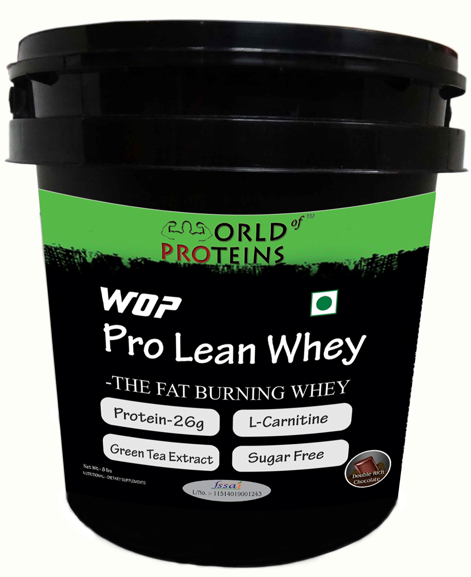 WOP PRO LEAN WHEY,8-lb double-rich-chocolate ,Shaker Free!