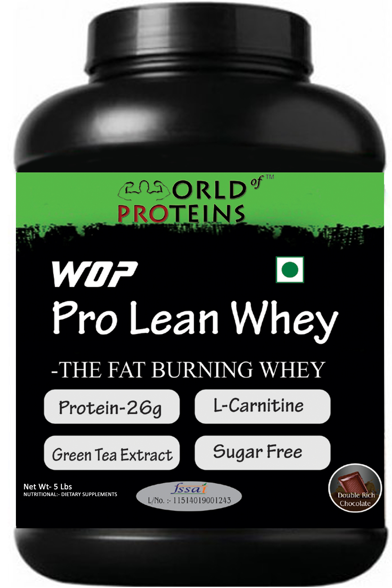 WOP PRO LEAN WHEY,5-lb double-rich-chocolate ,Shaker Free!