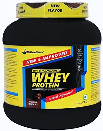 MuscleBlaze 100% Whey Protein,2-lb double-rich-chocolate ,Shaker Free!