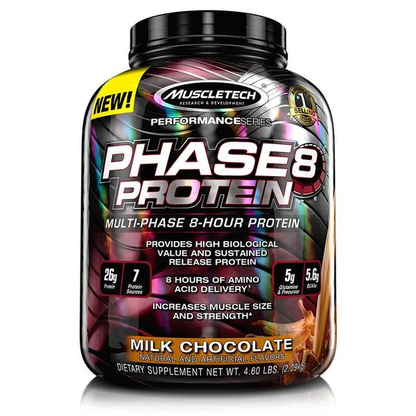 Muscletech Phase8 Protein,4.6-lb milk-chocolate