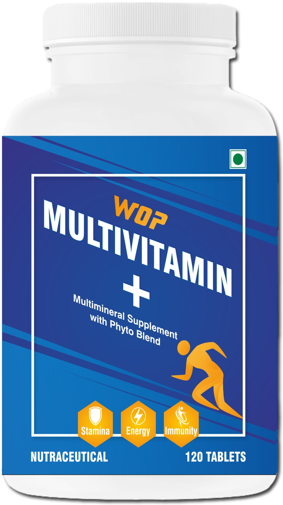 WOP Multivitamin Plus,120-tablets unflavoured
