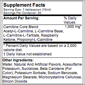 MP Liquid L-Carnitine,30-servings-473-ml citrus